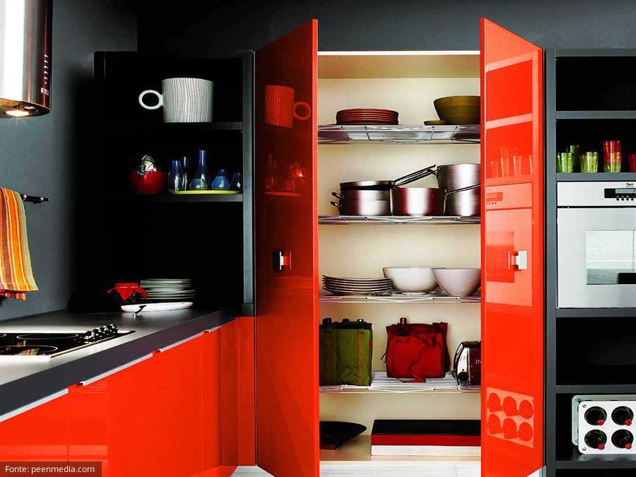 Decoração de cozinha colorida